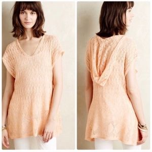 NWT ANTHROPOLOGIE Moth Hooded Pointelle Sweater